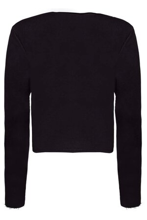 Moletom Cropped Black