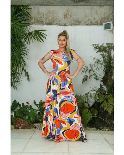 Vestido Daniela Moletinho Estampado