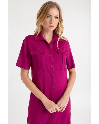 Vestido Ária com 11 botões e bolso frontal