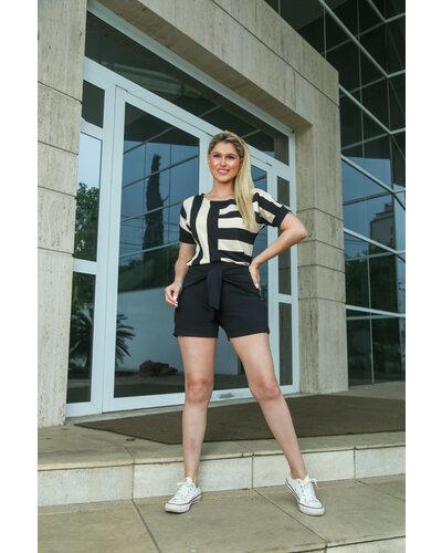 Conjunto Isabella Moletinho Blusa Listrada