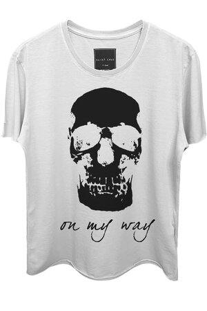 Camiseta branca On My Way (Front)