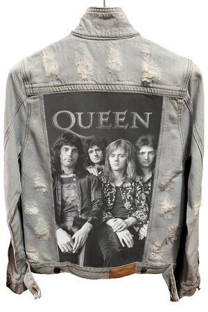 Jaqueta Jeans Destroyed Cru Queen