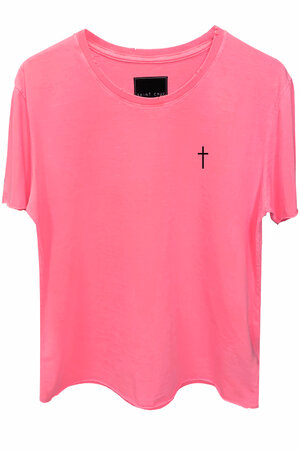 Camiseta estonada rosa Cross
