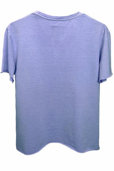 Camiseta estonada lilás Basic