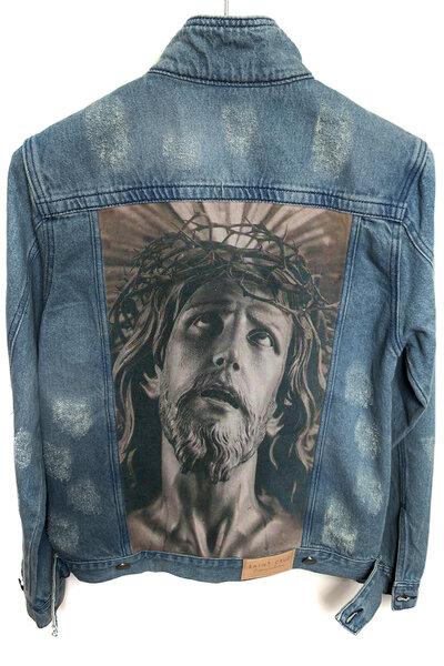 Jaqueta Jeans Destroyed Tradicional Masculina Lord