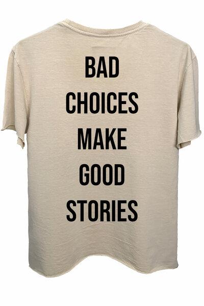 Camiseta estonada areia Bad Choices