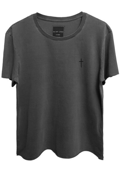 Camiseta estonada chumbo Cross