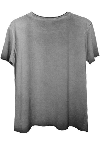 Camiseta estonada cinza Let's Rock