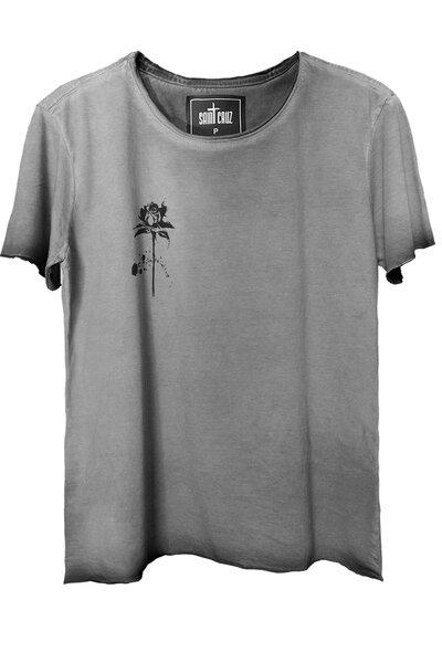 Camiseta estonada cinza Rose