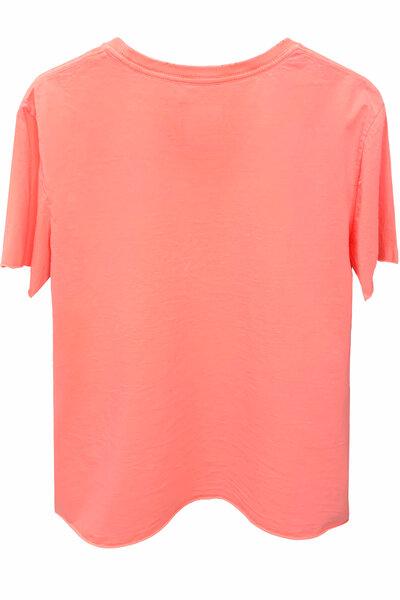 Camiseta estonada laranja Vert