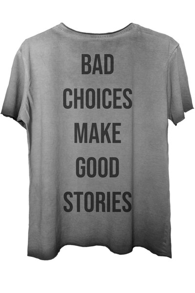 Camiseta estonada cinza Bad Choices