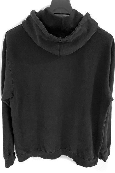 Blusa de moletom preto Rose (Estampa Branca)