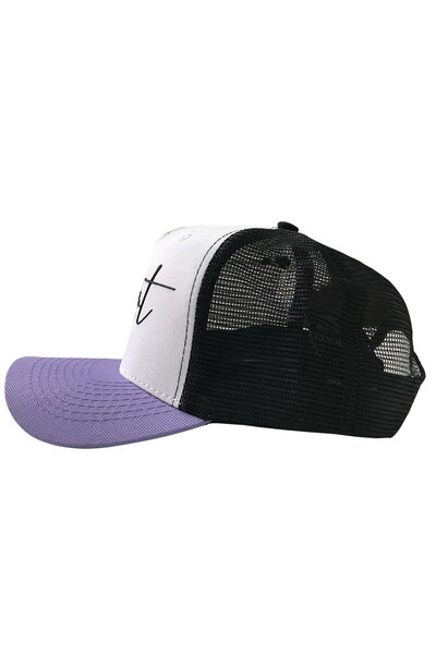 Boné Trucker Saint White/Purple