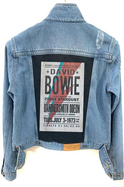 Jaqueta Jeans Destroyed Tradicional Feminina David Bowie