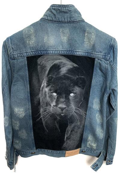 Jaqueta Jeans Destroyed Tradicional Masculina Panther