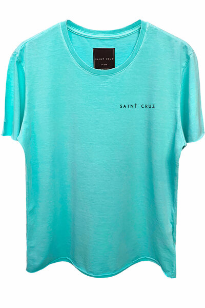 Camiseta estonada azul água Alone