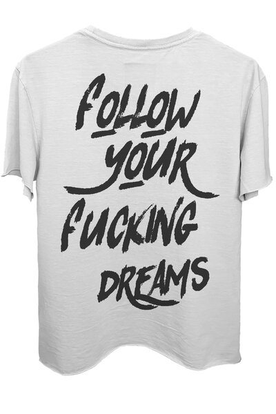 Camiseta branca Dreams (Back)