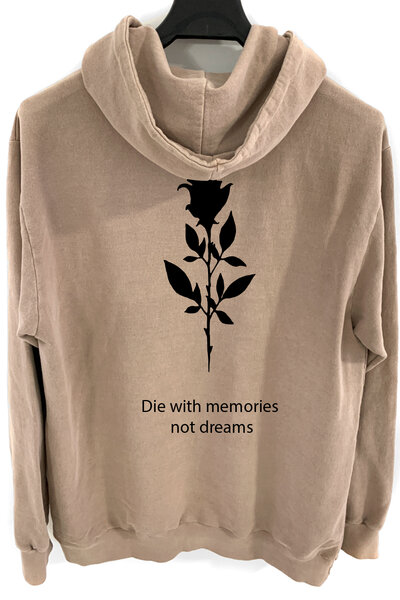 Blusa de moletom estonado castanho Memories