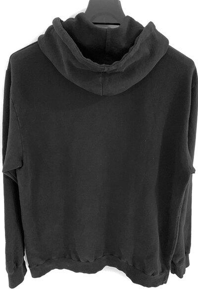 Blusa de moletom preto Never Die (Estampa verde água)