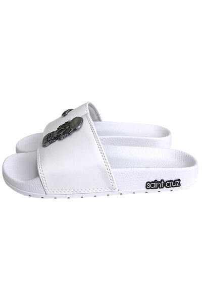 Chinelo slide Caveira (Branco)
