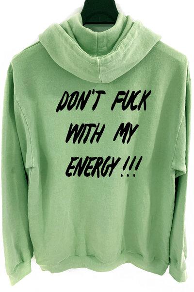 Blusa de moletom estonado verde Energy