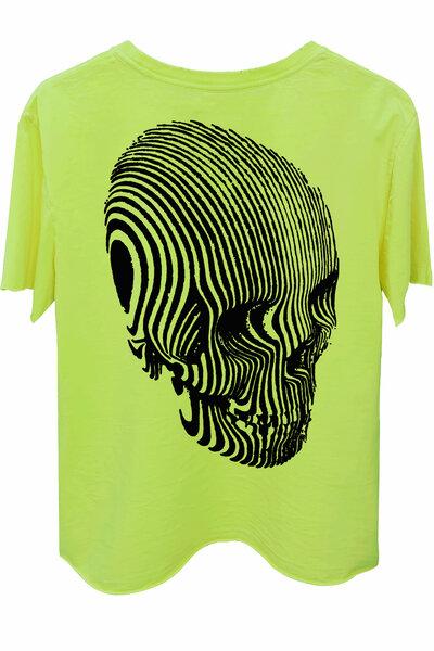 Camiseta estonada amarela Stripes