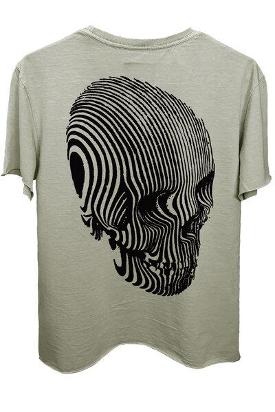 Camiseta estonada cinza clara Stripes