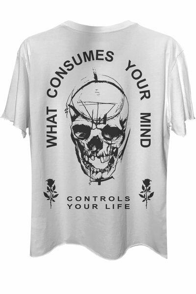 Camiseta com bolso branca Controls