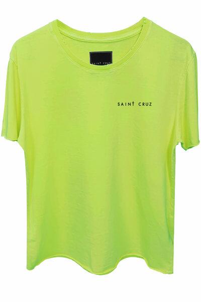 Camiseta estonada amarela Alone