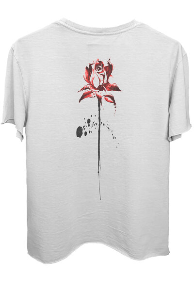 Camiseta branca Abstract Rose