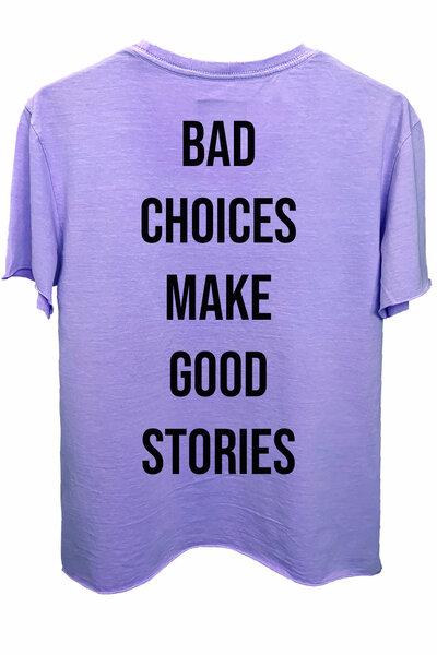 Camiseta estonada lilás Bad Choices