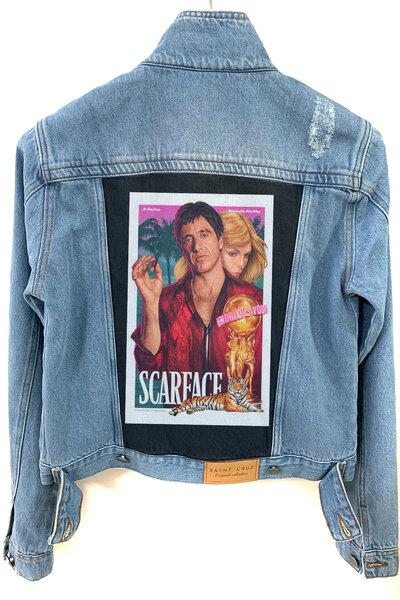 Jaqueta Jeans Destroyed Tradicional Feminina Scarface