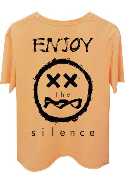 Camiseta estonada salmão Enjoy