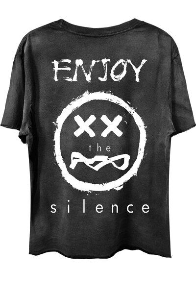 Camiseta com bolso preta Enjoy