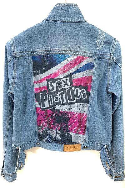 Jaqueta Jeans Destroyed Tradicional Feminina S Pistols