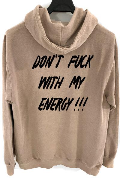 Blusa de moletom estonado castanho Energy