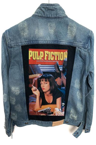 Jaqueta Jeans Destroyed Tradicional Masculina Pulp Fiction