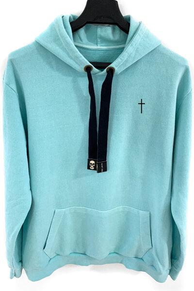 Blusa de moletom estonado azul Cross