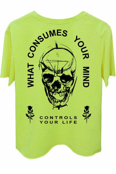 Camiseta estonada amarela Controls