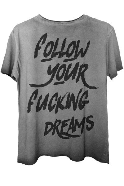 Camiseta estonada cinza Dreams (Back)