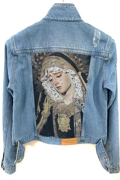 Jaqueta Jeans Destroyed Tradicional Feminina Saint