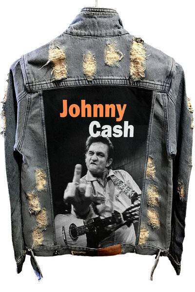 Jaqueta Jeans Destroyed Tradicional Johnny Cach