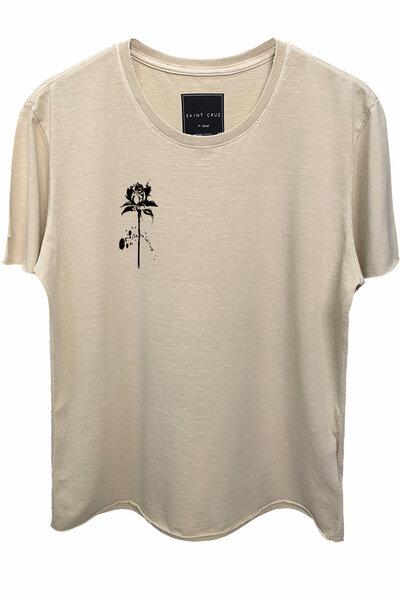 Camiseta estonada areia Rose