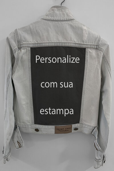 Jaqueta Jeans Destroyed Cru Feminina Personalizada