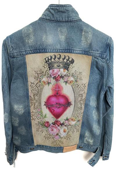 Jaqueta Jeans Destroyed Tradicional Masculina Heart