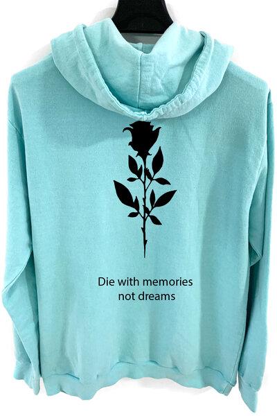 Blusa de moletom estonado azul Memories