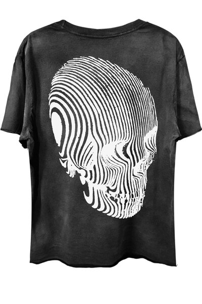 Camiseta com bolso preta Stripes