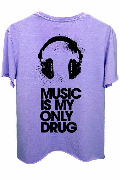 Camiseta estonada lilás Drug