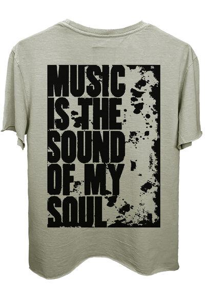 Camiseta estonada cinza clara My Soul
