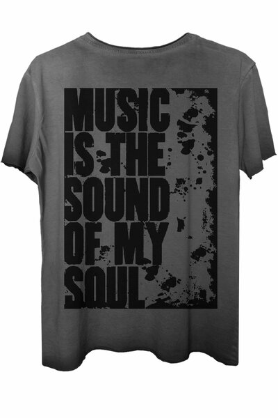 Camiseta estonada cinza My Soul
